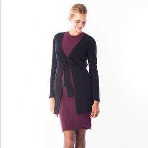 Black Goat Sweaters - NWT Black Goat Cashmere Front Tie Cardigan
